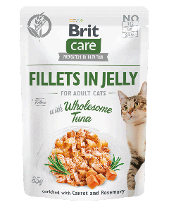 Brit Care Cat Pouch Fillets in Jelly with Wholesome Tuna enriched with Carrot & Rosemary 85g