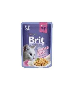 BRIT POUCH JELLY FILLETS WITH CHICKEN 85g