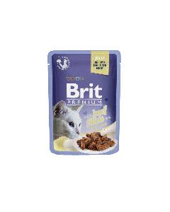 BRIT POUCH JELLY FILLETS WITH BEEF 85g