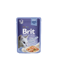BRIT POUCH JELLY FILLETS WITH SALMON 85g
