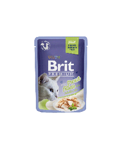 BRIT POUCH JELLY FILLETS WITH TROUT 85g