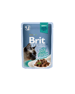 BRIT POUCH GRAVY FILLETS WITH BEEF 85g