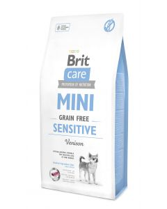 BRIT CARE MINI GRAIN-FREE bezzbożowa, hipoalergiczna formuła dla dorosłych, wrażliwych psów ras miniaturowych