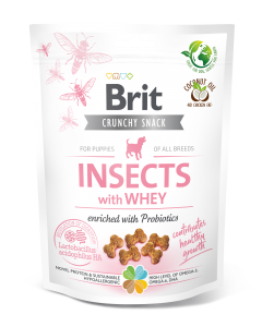 BRIT CARE DOG CRUNCHY CRACKER PUPPY INSECT 200g