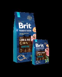 BRIT PREMIUM BY NATURE formuła dla psów wszystkich ras, jagnięcina z ryżem