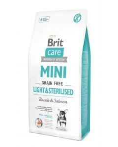 BRIT CARE MINI GRAIN-FREE bezzbożowa, hipoalergiczna formuła dla dorosłych psów ras miniaturowych z nadwagą lub po sterylizacji