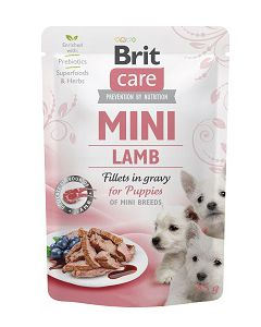 BRIT CARE MINI POUCH PUPPY LAMB 85g