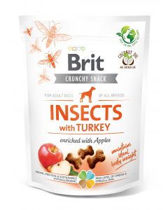 BRIT CARE DOG CRUNCHY CRACKER INSECT & TURKEY 200g