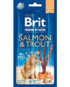 BRIT PREMIUM BY NATURE CAT STICKS SALMON&TROUT 15g