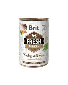 BRIT FRESH TURKEY&PEAS 400g