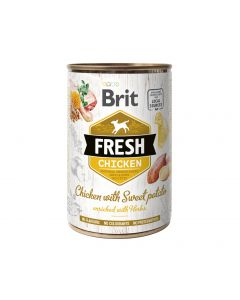 BRIT FRESH CHICKEN&SWEET POTATO 400g