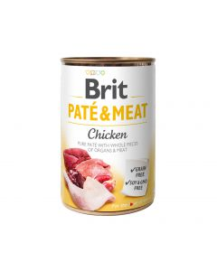 BRIT PATE & MEAT CHICKEN 400G