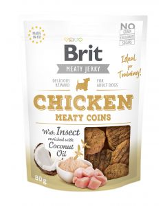 Brit Jerky Snack Chicken Meaty coins with Insect