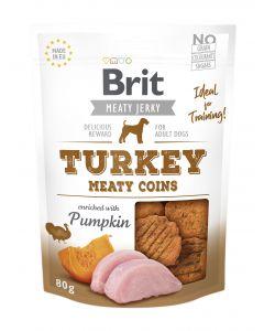Brit Jerky Snack Turkey Meaty coins