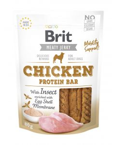 Brit Jerky Snack Chicken Protein bar with Insect 80g