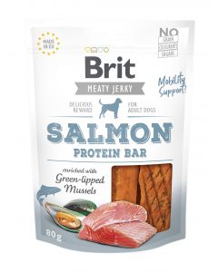Brit Jerky Snack Salmon Protein bar 80g