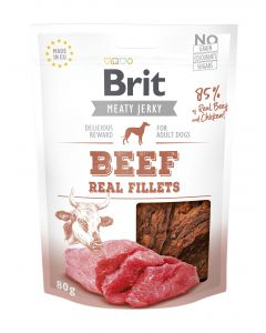 Brit Jerky Snack Beef and chicken Fillets