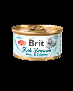 Brit Cat Fish Dreams Tuna & Salmon 80g